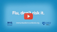 Play video thumbnail for 'Flu, don't risk it'